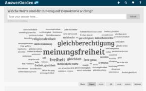 Wordcloud Demokratie-Werte